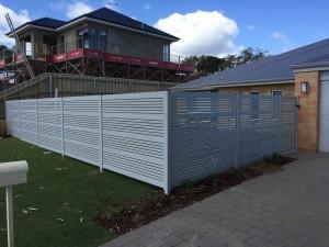 11.  Boundary aluminium slat fencing