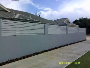 14. White aluminium slats