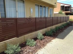 2. Aluminium slat fencing