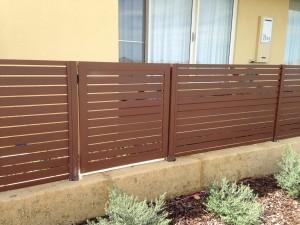 3. Aluminium slat fencing