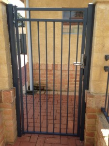 2. Black tubular gate