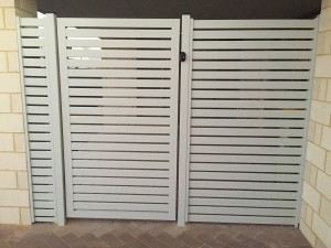 1. Aluminium Slat Gate with infill